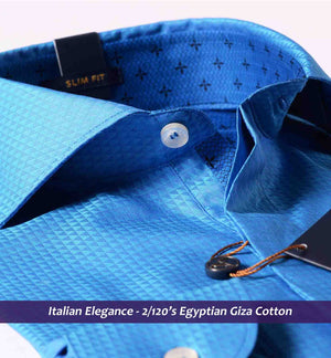 Durham-Magical Royal Blue Structure-Buy Online Premium Shirts- Italian