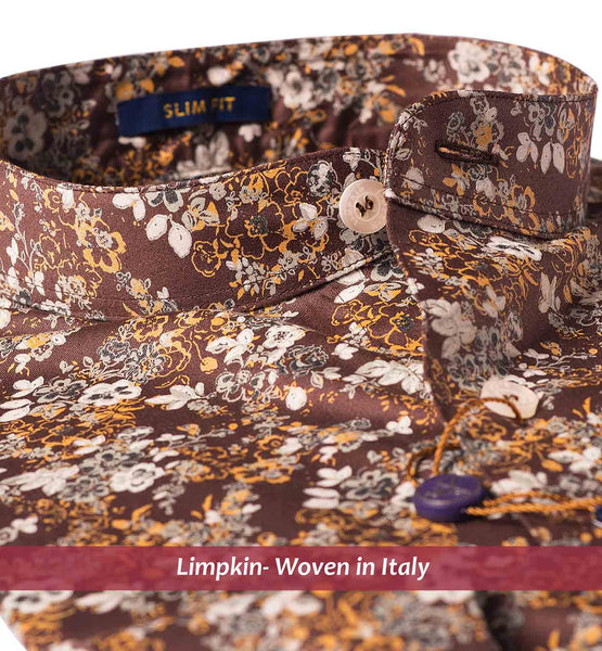 YOKOHAMA- BROWN & BEIGE MAGICAL FLORAL PRINT- Delivery from 25th July