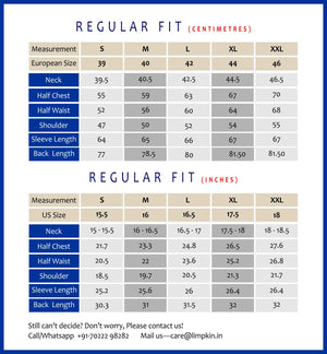 Limpkin- Regular Fit- Measurement Chart