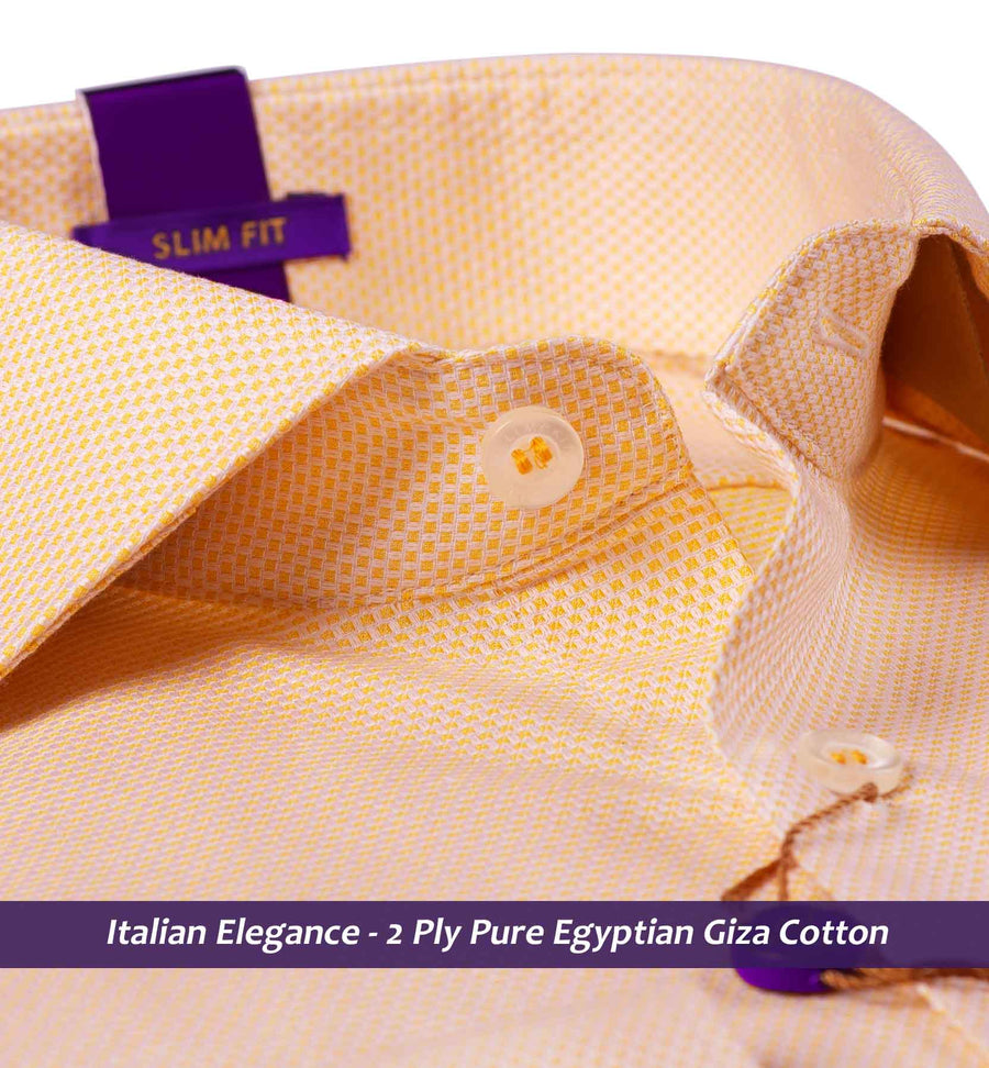 Morelia- Apricot Orange Magical Structure- 2 Ply Pure Egyptian Giza Cotton- Delivery from 19th April