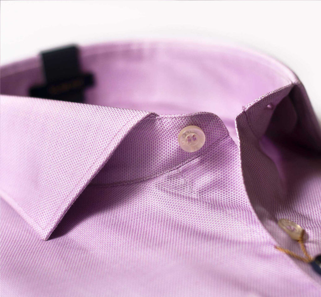 cutaway collar, Round Cuff, French placket