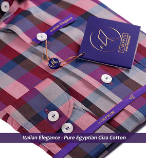 PRETORIA- BURGUNDY & PURPLE MAGICAL CHECK