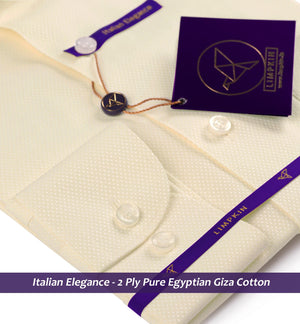 Navona- Cream Ceremonial Structure- 2 Ply Pure Egyptian Giza Cotton