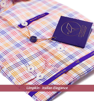 LUTON- PURPLE & PINK MULTI COLOR CHECK- Delivery from 2nd Aug