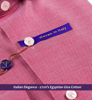Milton- Best Formal Burgundy Structure- 2/120 Egyptian Giza Cotton