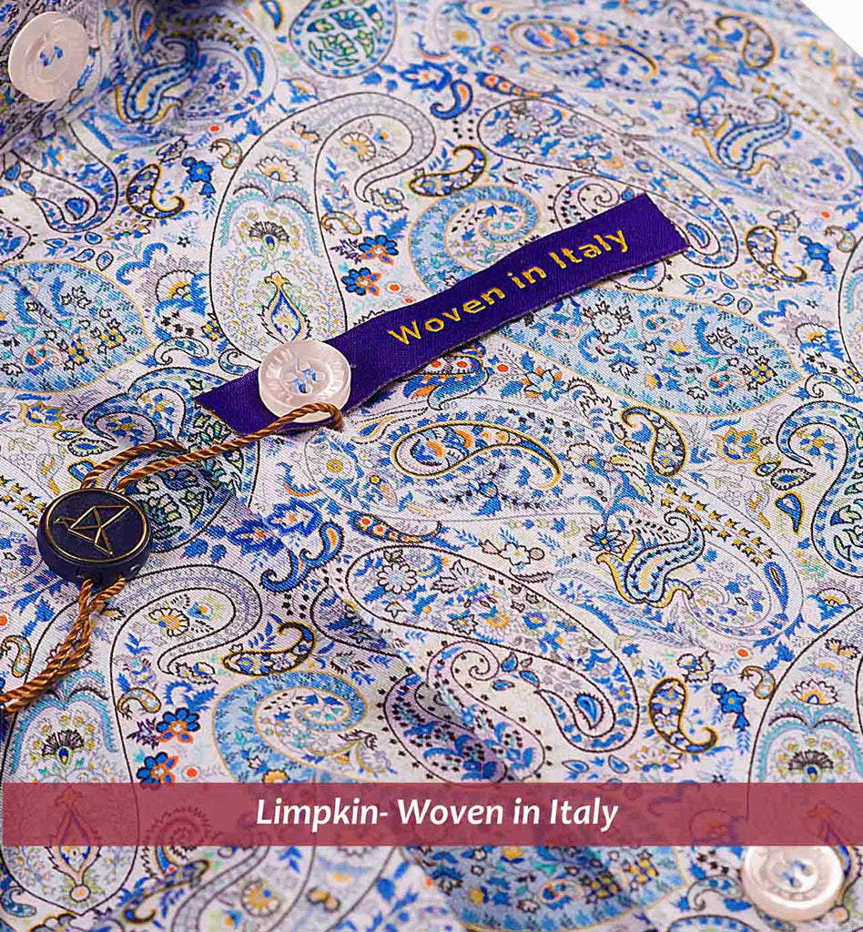 REIMS- NAVY & TURQUOISE MAGICAL PAISLEY PRINT