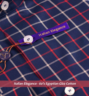 Mallawi- Navy & Burgundy Magical Check