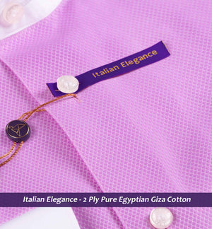 Pink Structure with White Collar- 2 Ply Pure Egyptian Giza Cotton