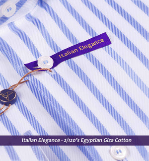 Oxford Blue & White Magical Stripe