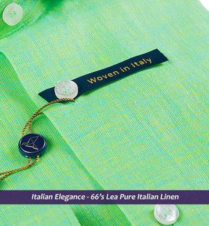 Sea Foam Green Solid Linen- 66's Lea Pure Italian Linen