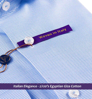 Best Formal Azure Blue Structure- 2/120 Egyptian Giza Cotton