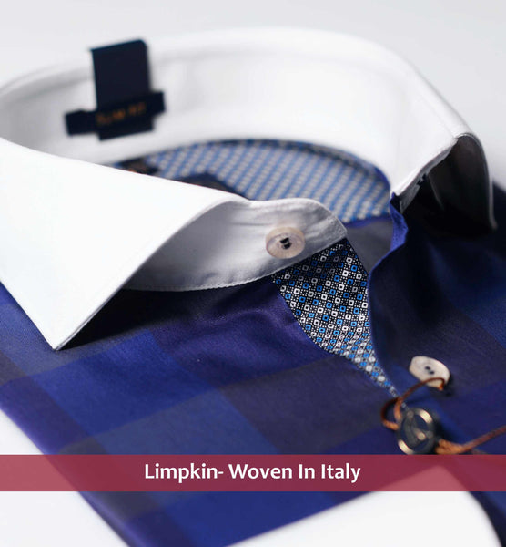 VENICE- NAVY CHECK & WHITE COLLAR
