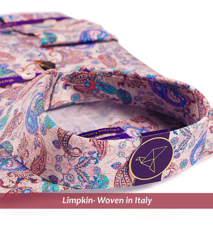 PALERMO- BURGUNDY & TEAL MAGICAL PAISLEY PRINT