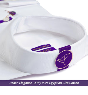 Chrysler- The Best Formal White Structure- 2 Ply Pure Egyptian Giza Cotton