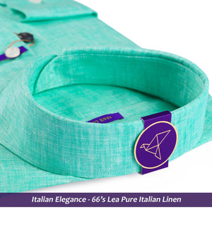 Siena- Turquoise Green Solid Linen