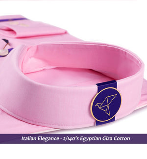 Oswego- Best Formal Pink- 2/140 Egyptian Giza Cotton