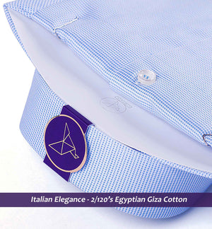 Men's shirt in Best Formal Azure Blue Structure - Limpkin Shirts