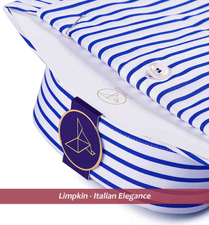 LEXINGTON- INK BLUE & WHITE FORMAL STRIPE