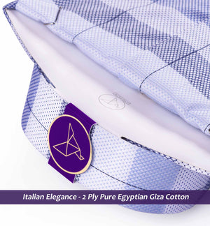 Men's shirt in Navy & Oxford Blue Horizontal Stripe - Limpkin Shirts