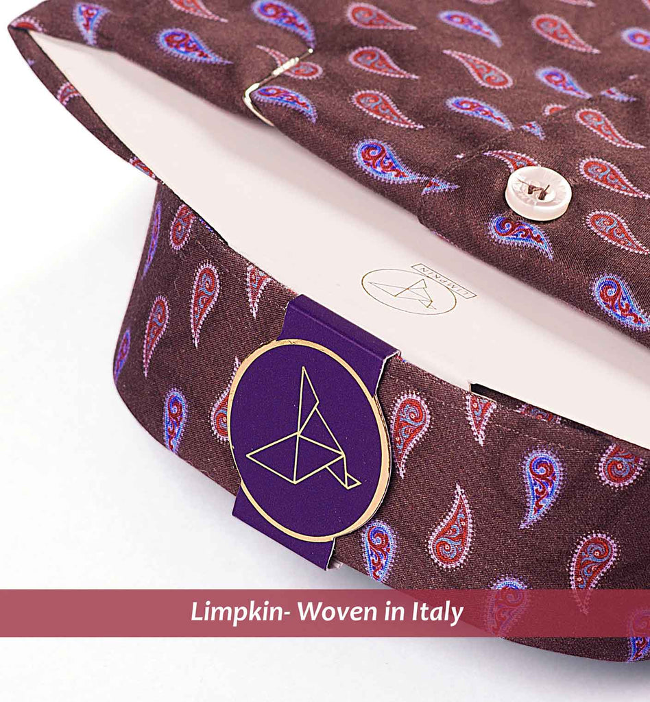 ANTIBES- BROWN & PURPLE MAGICAL PAISLEY PRINT-