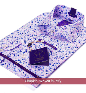 Printed Shirts - Floral Blue & Pink | Mens Shirts - Limpkin