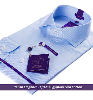 Blue Shirt - Formal Shirts for Men | Italian Elegance - Limpkin