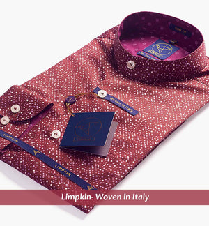 LINDOS- BURGUNDY MAGICAL DOTTED PRINT