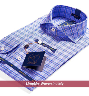 Check Shirt - Blue & Beige | Mens Shirts - Limpkin