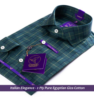 Check Shirt - Green & Navy | Shirts for Men - Limpkin