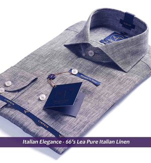 Linen Shirts - Grey | Shirts for Men - Limpkin