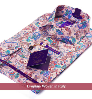 Palermo- Burgundy & Teal Magical & Paisley Print
