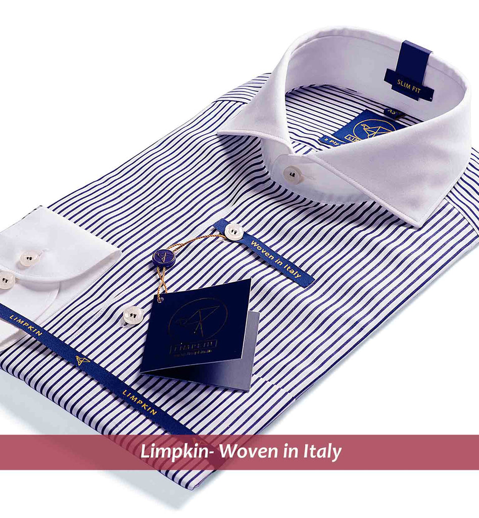 CHICAGO- BLACK STRIPE & WHITE COLLAR- Delivery from 20th September