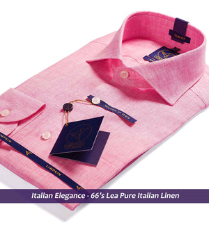 Linen Shirts - Pink | Shirts for Men - Limpkin