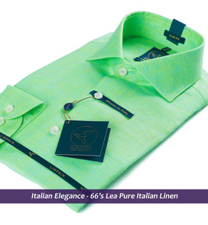 Linen Shirts - Sea Foam Green Linen | Shirts for Men - Limpkin