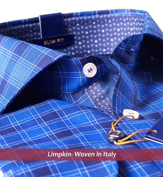 BERLIN- MAGICAL ROYAL BLUE CHECK- REGULAR/SLIM FIT