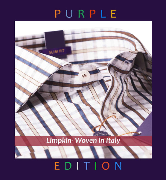 SWEDEN- NAVY & BEIGE FORMAL CHECK- PURPLE EDITION