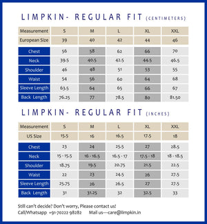 Limpkin- Regular Fit- Chart