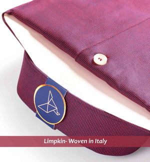 shirt in Burgundy Solid Structure - Limpkin Shirts