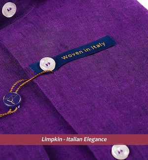 Purple Pure Linen Shirts For Men - Limpkin