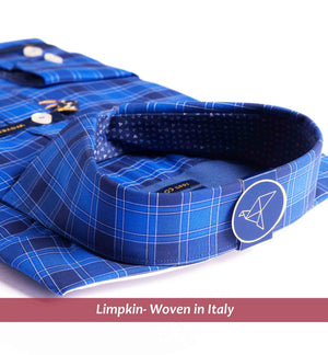 Men's shirt in magical royal blue check - Shirts for men
