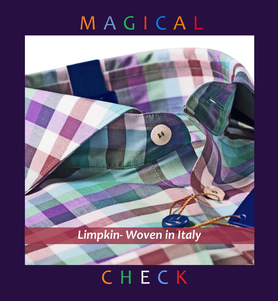 SOFIA- TEAL & PURPLE MAGICAL CHECK