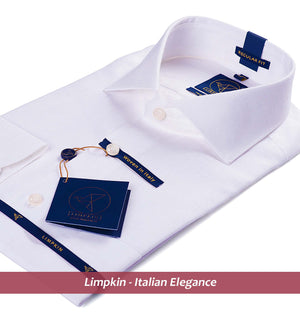 White Pure Linen Shirts For Men - Limpkin