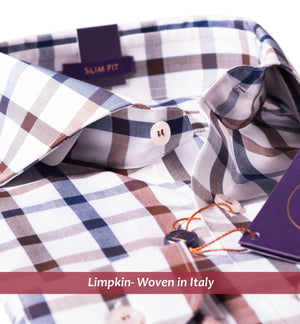 NORWAY- NAVY & BEIGE SQUARE CHECK- PURPLE EDITION