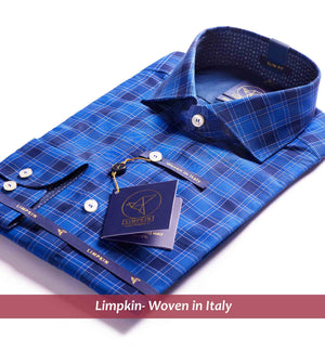 Check Shirt - Royal Blue | Shirts for Men - Limpkin