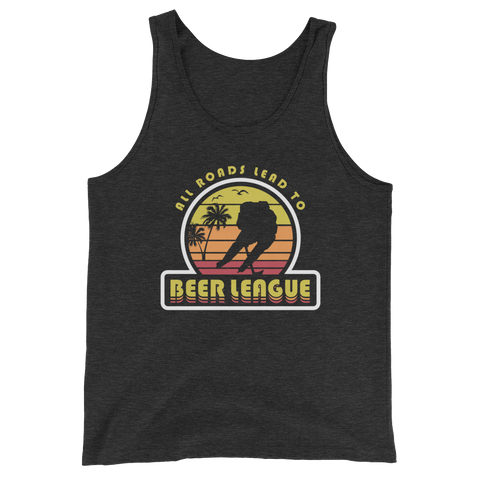 All Roads Lead To Beer League Tank Top (Black)