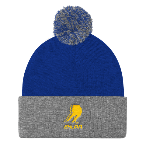BHLPA Toque (Royal/Gray/Yellow)