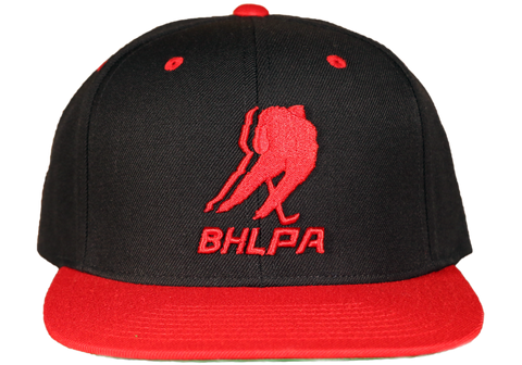 BHLPA Logo Hat (Black/Red)