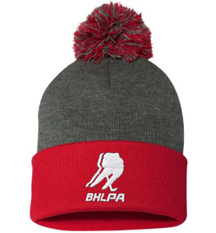 BHLPA Toque (Gray/Red)