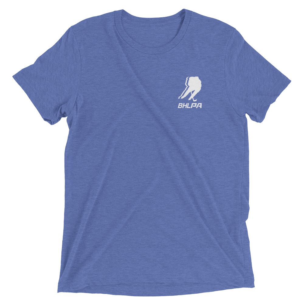 BHLPA Chest Logo T (Light Blue/White)