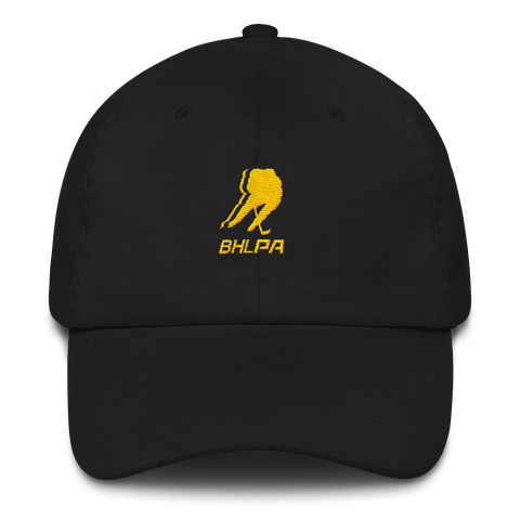 BHLPA Logo Dad Hat (Black/Yellow)